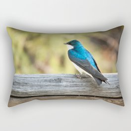 Blue Bird Photography Print Rectangular Pillow