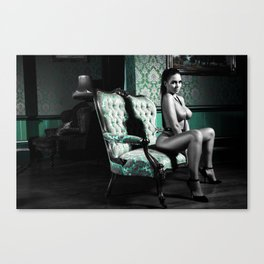 Sexy Nude Green Canvas Print