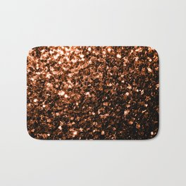 Beautiful Bronze Orange Brown glitters sparkles Bath Mat