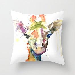 Giraffe Dreams Throw Pillow
