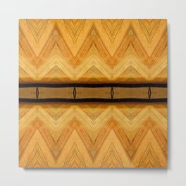 Symmetrical Wooden Pattern Metal Print
