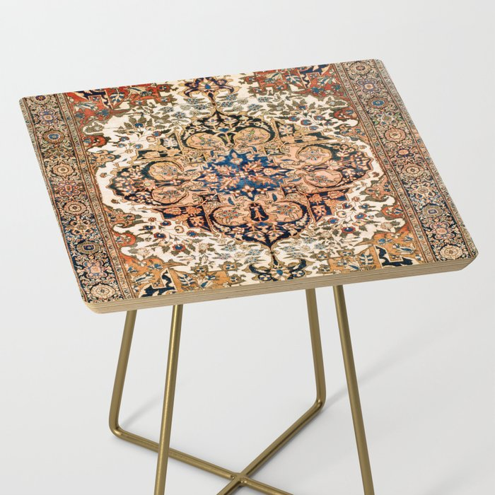 Ferahan Arak  Antique West Persian Rug Print Side Table