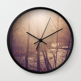 Forest Aglow Wall Clock