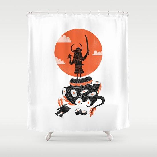 Samurai Sushi Shower Curtain