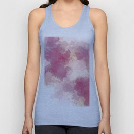Mauve Dusk Abstract Cloud Design Unisex Tank Top