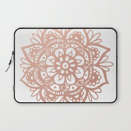 Rose Gold Mandala Laptop Sleeve