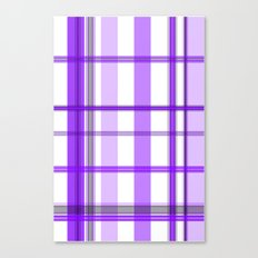 Shades of Purple and White Canvas Print