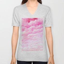 Pink cotton Candy Sky Unisex V-Neck