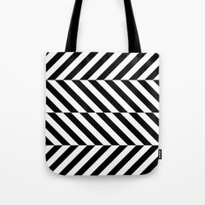 Black and White Op Art Design Tote Bag