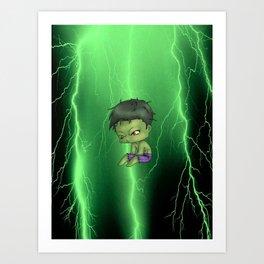 Chibi Hulk Art Print