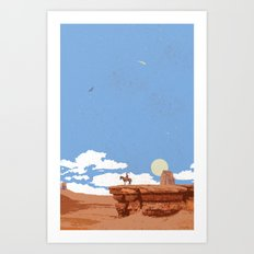 OUT WEST Art Print