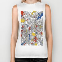 berlin Biker Tanks featuring Berlin  by Mondrian Maps