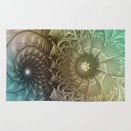 Togetherness, Fractal Art Abstract Rug
