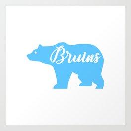 Blue Bruins Bear Art Print