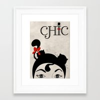 chic Framed Art Prints featuring Chic by Aleksandra Mikolajczak
