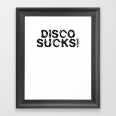 Disco Demolition Night Framed Art Print