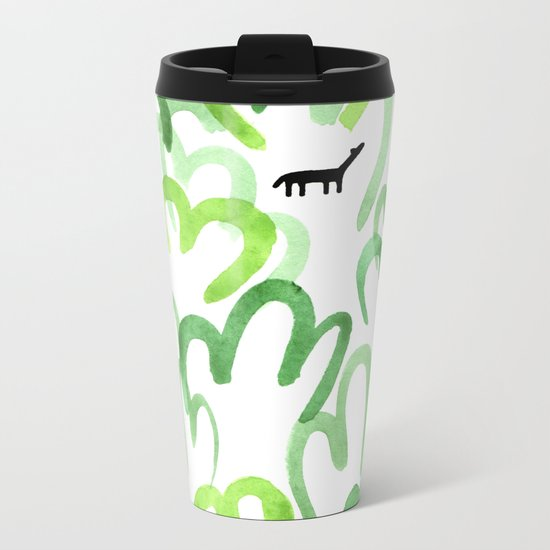 Animals in the forest Metal Travel Mug