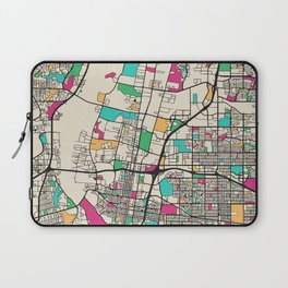 Colorful City Maps: Albuquerque, New Mexico Laptop Sleeve