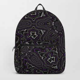 Purple, Gray, and Black Kaleidoscope Backpack