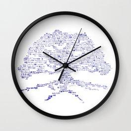 Tree of Virtues Wall Clock