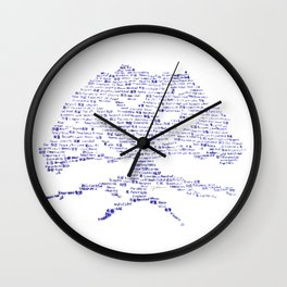 Tree of Virtues Wall Clock