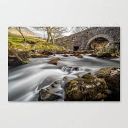 River Ogwen Bridge Canvas Print
