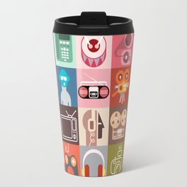Clip Art Collage Travel Mug