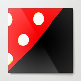 Kuhl's Kit Kat Klub: Polka-Dotted & Quartered Metal Print