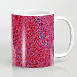 quantum waves, red blue Coffee Mug
