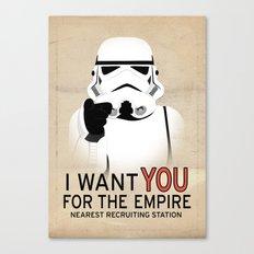 Stormtrooper I want YOU  Canvas Print