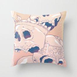 King Skulls Throw Pillow