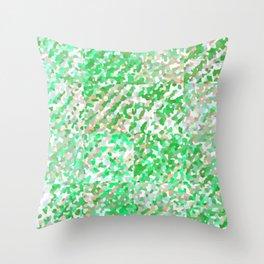 Green & Orange Delight (Squares) Throw Pillow