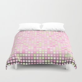 Abstract pink mosaic pattern Duvet Cover
