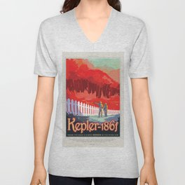 NASA Visions of the Future - Kepler-186f Unisex V-Neck