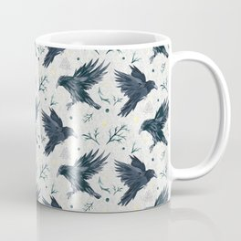 Odin's Ravens Pattern Print Coffee Mug