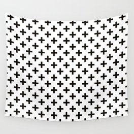 Crosses   Criss Cross   Plus Sign   Hygge   Scandi   Black and White   Wall Tapestry