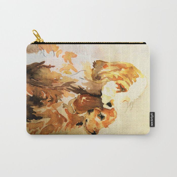 two dogs spaniel Carry-All Pouch