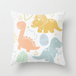 Dino Fun Throw Pillow