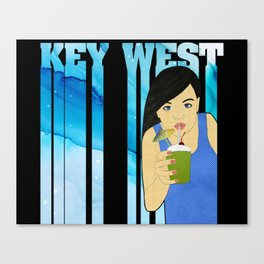 Drink Up in Key West Canvas Print