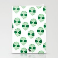 aliens Stationery Cards featuring aliens by LuisaMaria