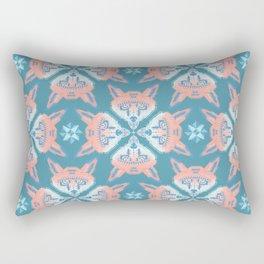 Pastel Fox Pattern Rectangular Pillow
