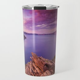 Crater Lake Sunset Travel Mug