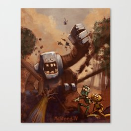 Vacant Planet: Robot Attack! Canvas Print