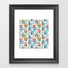 Pattern Project #38 / Dogs With Hats Framed Art Print