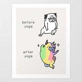 After Yoga Art Print
