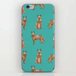 Australian Cattle Dog red heeler love dog breed gifts cattle dogs by pet friendly iPhone Skin