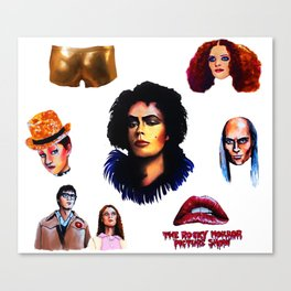 Halloween RHPS Rocky Horror Picture Show Canvas Print