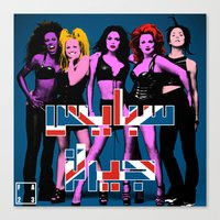 spice girls Canvas Prints featuring Spice Girls by FA 23