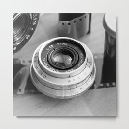 Accessories from old film cameras. Metal Print