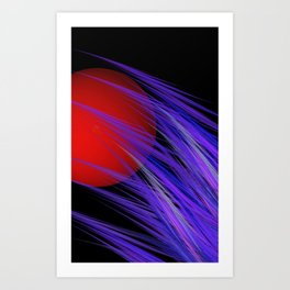 red and black and lilac Art Print